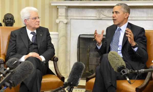 Obama riceve Mattarella. Intesa su migranti e lotta a Isis