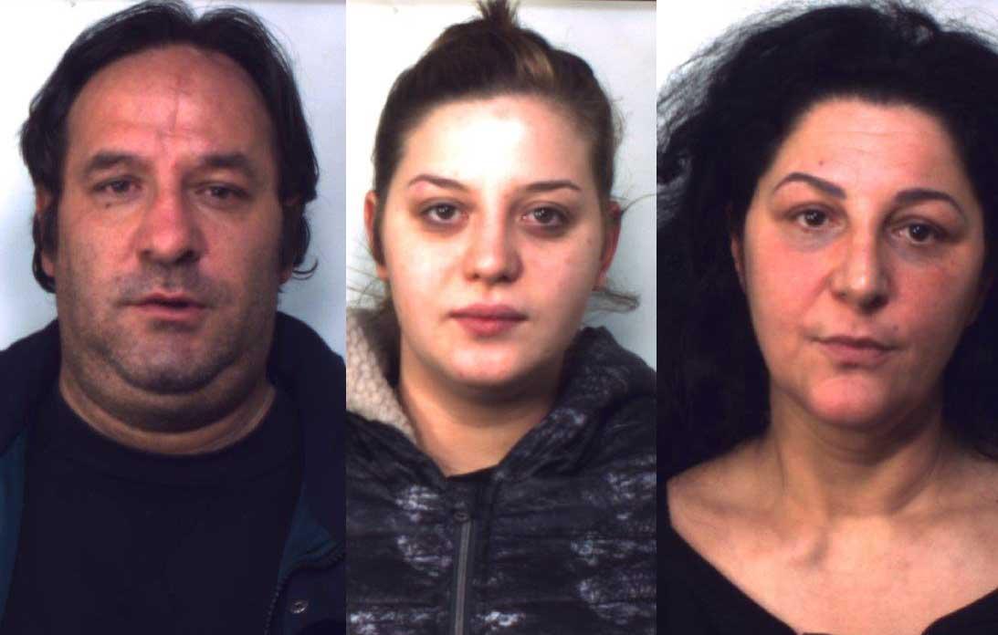 3 degli arrestati di giovedi da Dda di Napoli. Da sinistra Maurizio Cappa, Rosa Zampella e Maria Piccirillo