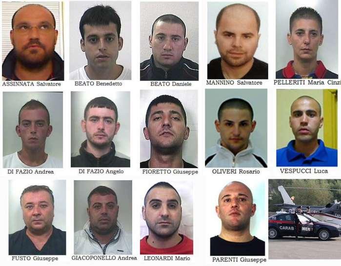Mafia a Paternò. 14 arresti nel clan Assinnata