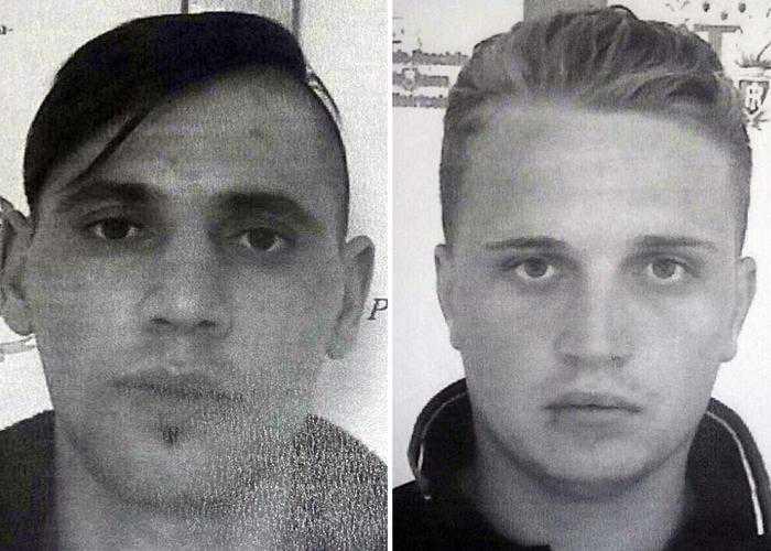 da sinistra Catalin Ciobanu e Mihai Florin Diaconescu, i due detenuti evasi da Rebibbia