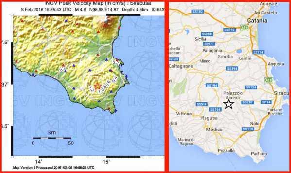 Terremoto in Sicilia. 4.2 della scala Richter. Paura senza danni