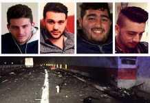 incidente frontale in Calabria all'A3. Morti 4 giovani