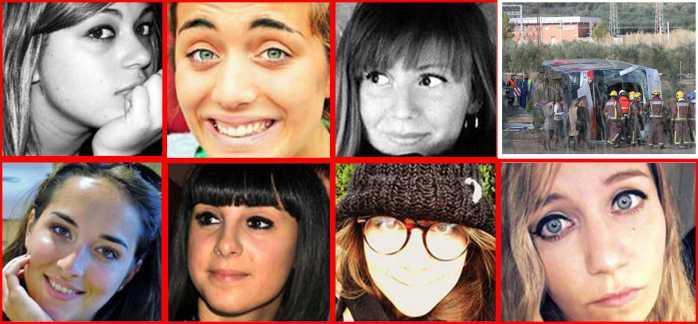 Le sette ragazze italiane morte in Catalogna