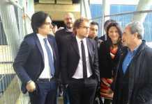 """Luca Lotti visita nuovo palazzo di Giustizia: """"Governo è con voi"""""""