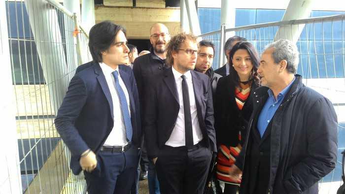 Luca Lotti visita nuovo palazzo di Giustizia: