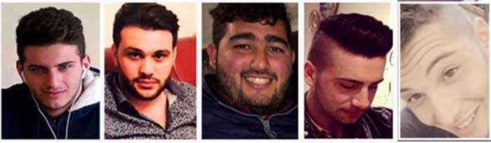i 5 ragazzi morti galleria Mileto
