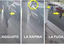 La rapina al vigilantes che ha prelevato l'incasso dal centro commerciale Brico Center di Zumpano il 14 dicembre 2015