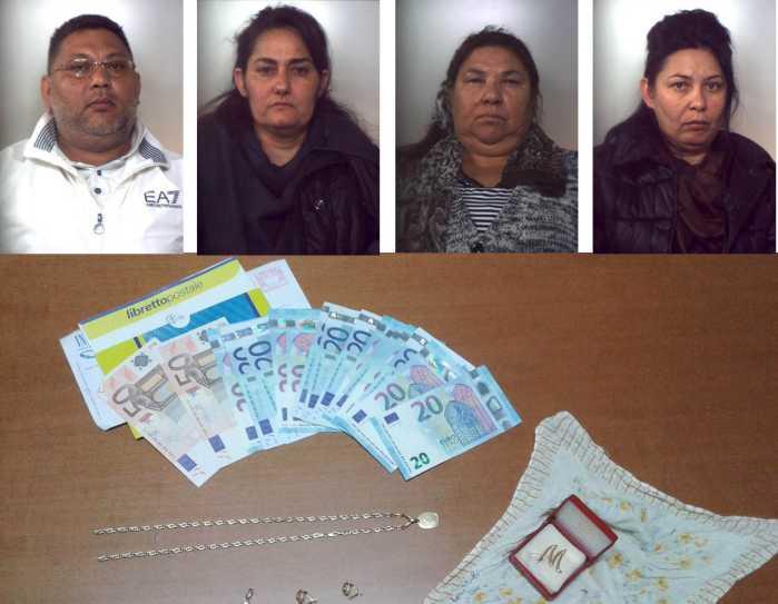 Fagnano Castello: raggirano e rubano a casa anziana. 4 arresti