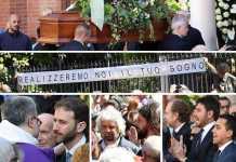 """Funerali Casaleggio con brindisi. """"Realizzeremo il tuo sogno"""""""