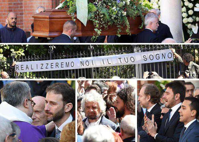 """Funerali Gianroberto Casaleggio con brindisi. M5S: """"Realizzeremo il tuo sogno"""""""