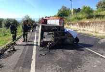 Frontale auto e motoape. Tragica morte di Antonino Vardaro
