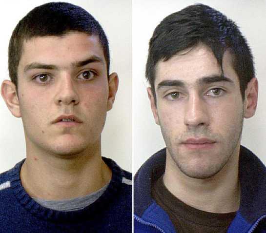 Da sinistra Alberto Cabeddu e Paolo Enrico Pinna, i presunti assassini di Monni e Masala