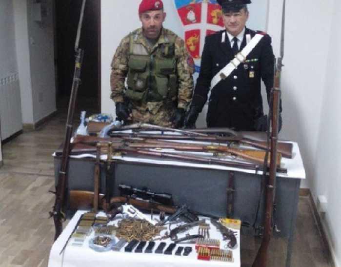 Arsenale di armi scoperto a Caulonia, nella Locride