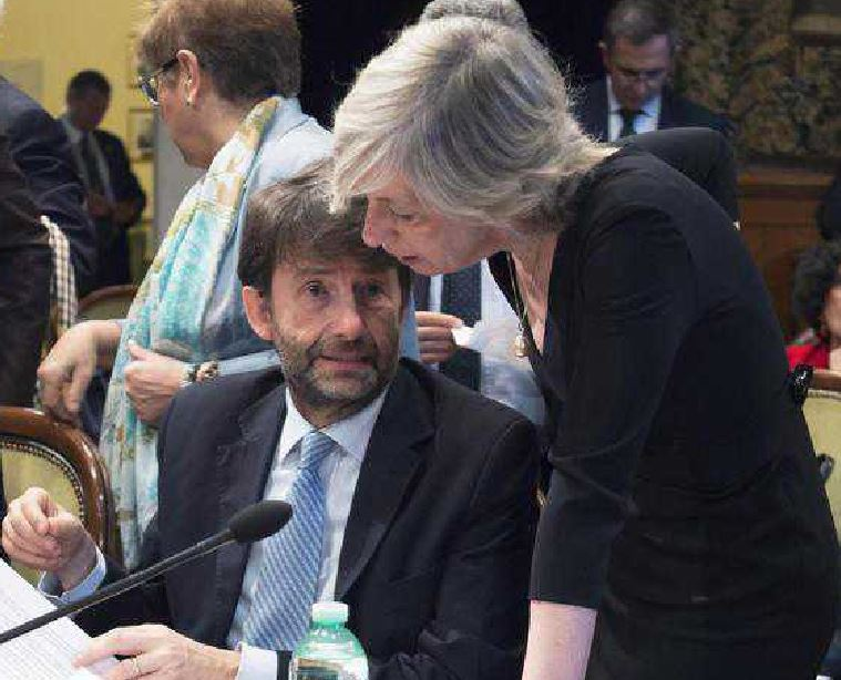 I ministri Franceschini e Giannini cultura