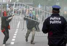 Bruxelles, scontri al corteo anti austerità