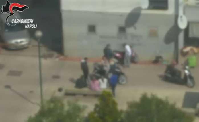 Un frame del video dei carabinieri