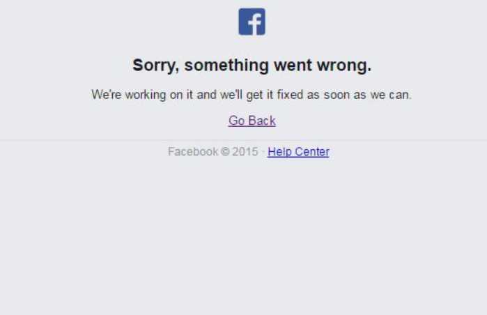 Facebook Down nel giorno di collegamento con lo Spazio