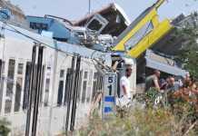 Incidente ferroviario sulla tratta Corato-Andria (Ansa/Turi)