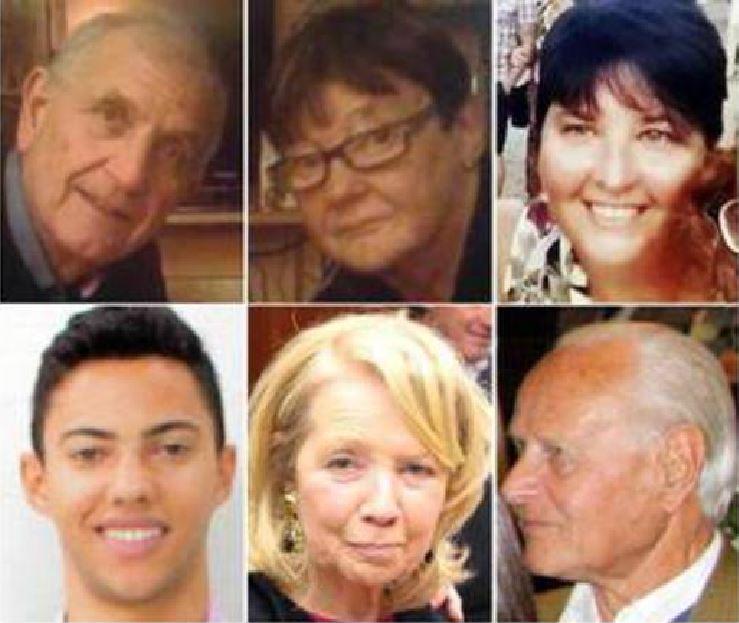 Le vittime italiane a Nizza