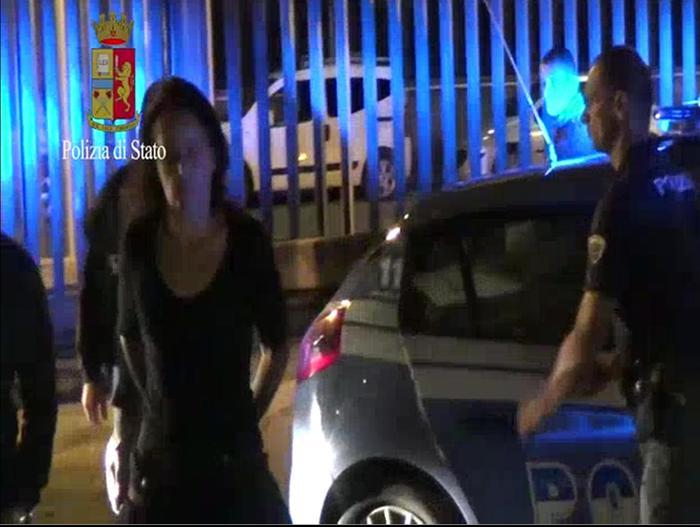 Un fermo immagine tratto da un video della Polizia di Stato mostra un momento dell'operazione antiterrorismo Fai