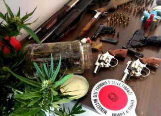 Arsenale armi scoperto a Paola