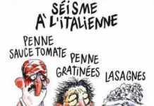 Charlie Hebdo, il bidone satirico contro le vittime del sisma