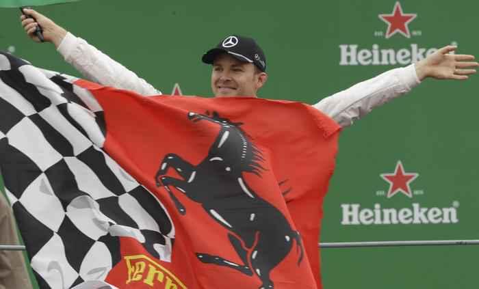 Nico Rosberg sul podio a Monza