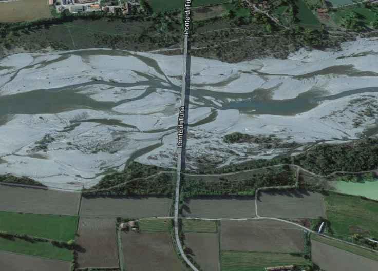 Ponte di Tuna fiume Trebbia dove è stato trovato cadavere indiano