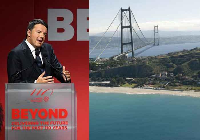 Matteo Renzi: Siamo pronti per il Ponte sullo Stretto