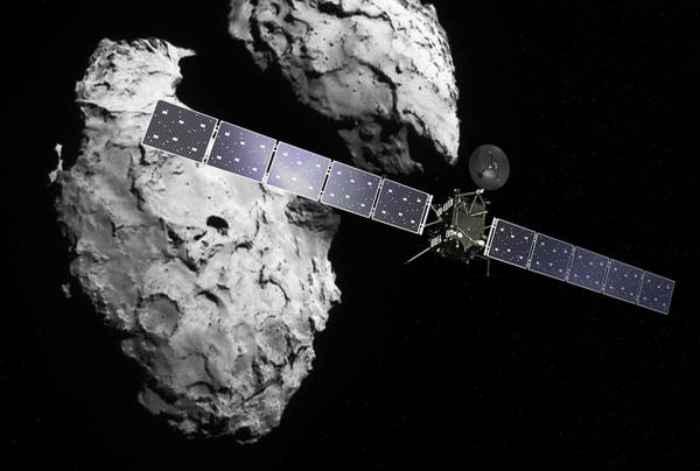 La sonda Rosetta in rotta di collisione verso la cometa
