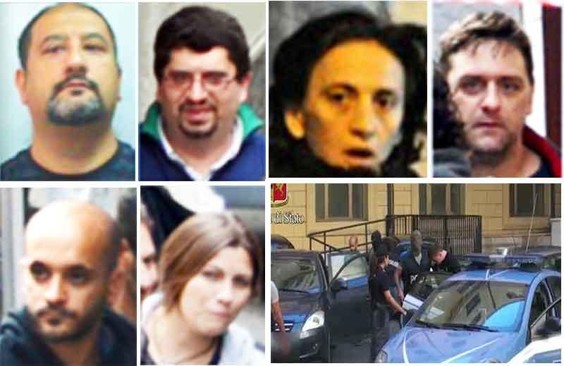 Le persone coinvolte nell'operazione Scripta Manent Fai