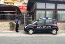 Carabinieri davanti al ristorante la Favorita