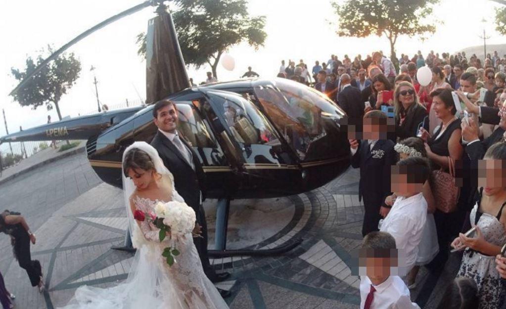 Matrimonio Procura : Sposi in elicottero atterrano piazza a nicotera indaga