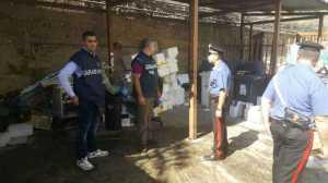 Carabinieri e militari del Nas nei controlli all'ospedale di Cosenza