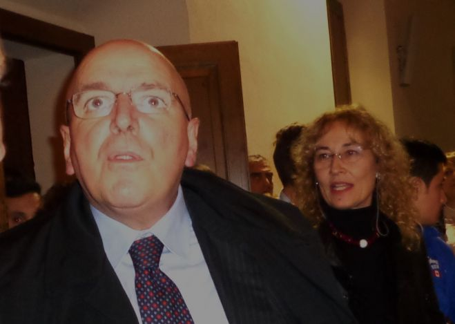Mario Oliverio e Adriana Toman