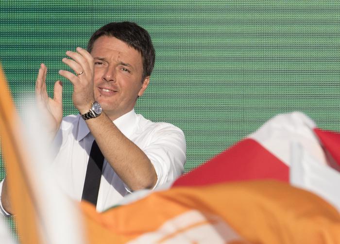 Matteo Renzi a Piazza del Popolo