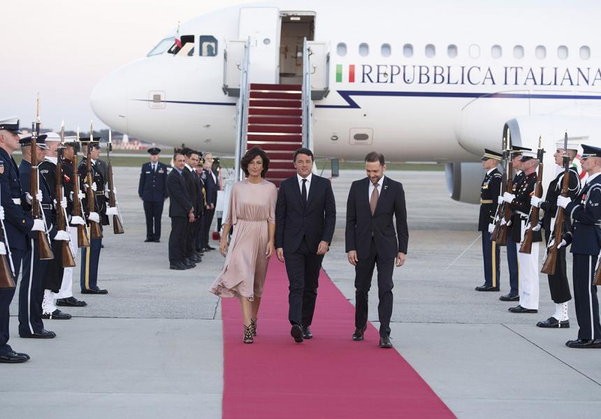 Matteo Renzi e la signora Agnese a Washington