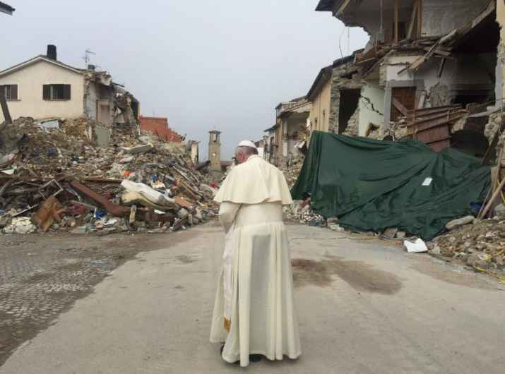 Papa Francesco ad Amatrice