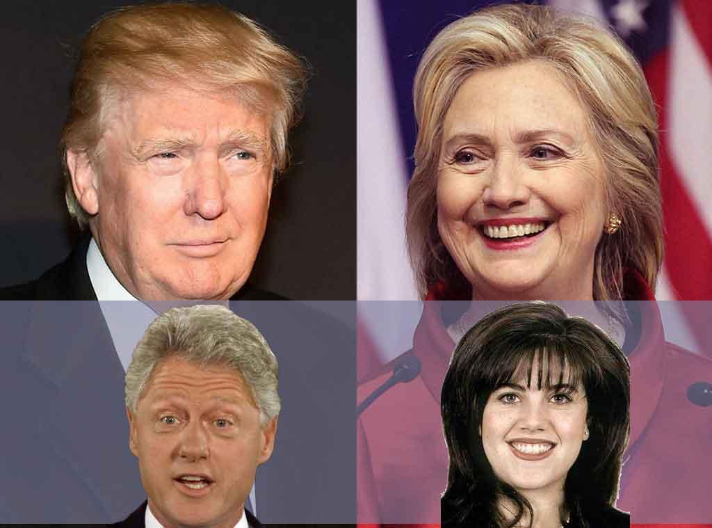 Trump, Hillary, Bill e Monica