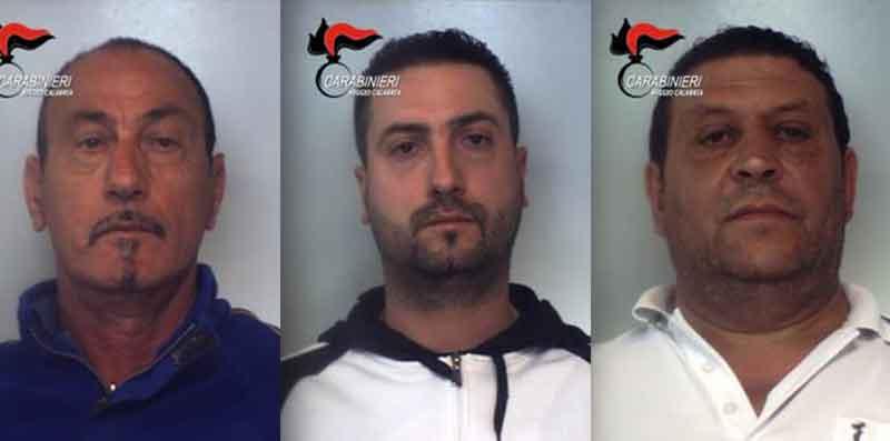 Da sinistra Ugo Francesco Fedele, Vincenzo Fedele e Pasquale Boeti