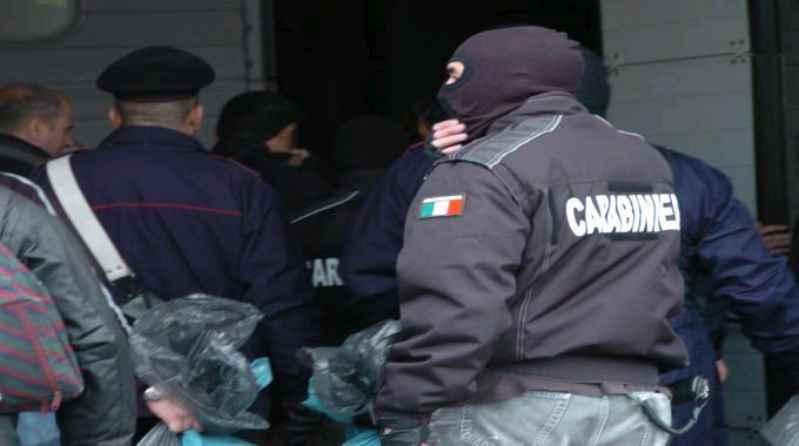 carabinieri contro cosca Paviglianiti