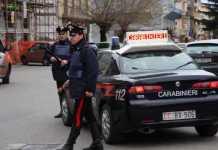 carabinieri di Lamezia Terme durante controlli