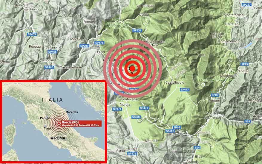 Terremoto: rischio abbassamento del suolo di oltre 25 cm