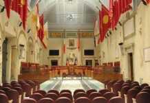 Aula Giulio Cesare sede del Consiglio comunale di Roma Capitale