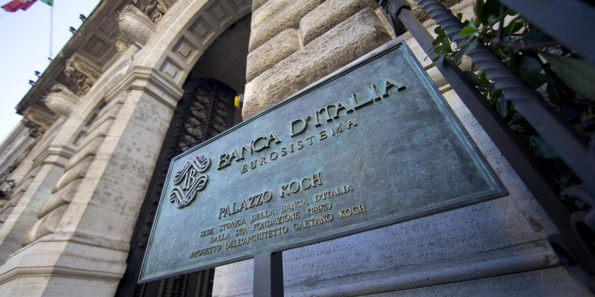 L'esterno della Banca D'Italia a Roma