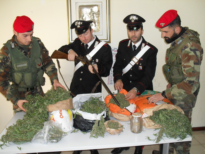 Sequestro droga e armi a Polistena