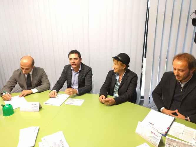De Simone Pulignano Chiurco e Caruso durante la conferenza stampa