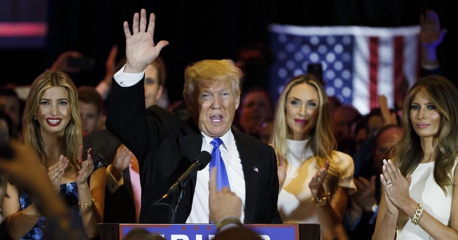 Donald e Melania Trump al seggio