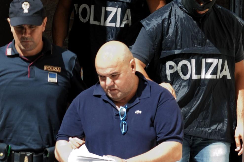 Giovanni Domenico Scimonelli durante l'arresto del 2015