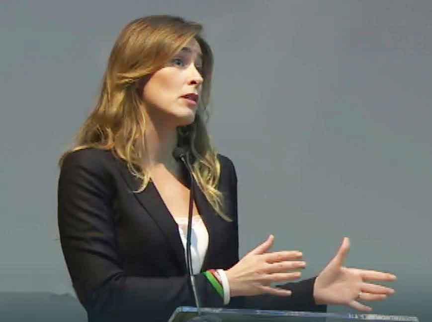 Maria Elena Boschi a Vibo Valentia